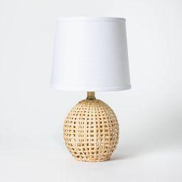 Round Rattan Accent Lamp Brown - Threshold™   Target