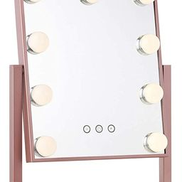 My Comfort Living Vanity Makeup Mirror with Hollywood Lights - LED Lighted Make Up Vanity for Cos... | Amazon (US)