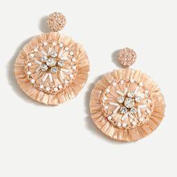Sparkle raffia statement earrings   J.Crew US