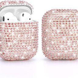 Gdrtwwh Diamond AirPods Case,Handmade Luxury Rhinestone Protective Charging Cases Hard Carrying C... | Amazon (US)
