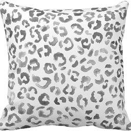 Emvency Throw Pillow Cover Cute Snow Leopard Pattern Black Watercolor Hand Paint White Spots Deco... | Amazon (US)