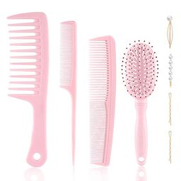 4PCS Hair Comb and Hair Brush Set for Women, Great for Straight Curly Thick Thin Long Short Wet o... | Amazon (US)