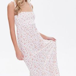 Floral Print Self-Tie Maxi Dress   Forever 21 (US)