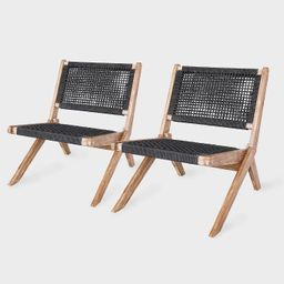 Athens 2pk Patio Chair Gray - Leisure Made   Target