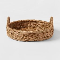 Chunky Seagrass Woven Serving Tray Beige - Threshold™   Target