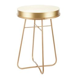 Side Table Round Metal and Enamel - Olivia & May   Target