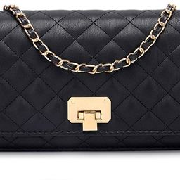 Women Black Quilted Purse Lattice Clutch Small Crossbody Shoulder Bag with Chain Strap Leather   Amazon (CA)