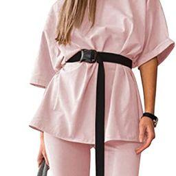 Women 2 Piece Outfits Sets Casual Oversized T-Shirt Biker Short Sets Workout Sports Tracksuit wit...   Amazon (CA)