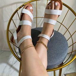 Minimalist Ankle Strap Sandals | SHEIN