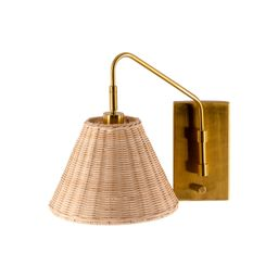 Rattan Wrapped  Sconce | Brooke and Lou