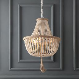 3 - Light Unique Empire Chandelier with Beaded Accent | Wayfair North America