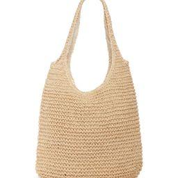 Woven Straw Shoulder Bag | Nordstrom