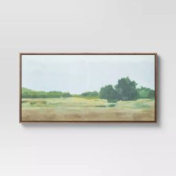 """47"""" x 24"""" Country Landscape Framed Wall Canvas - Threshold™ 