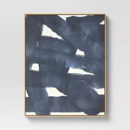 """24"""" x 30"""" Abstract Framed Wall Canvas Dark Navy/Cream - Project 62™ 