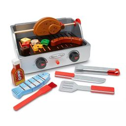 Melissa & Doug Rotisserie and Grill Wooden Barbecue Play Food Set (24pc)   Target
