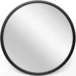 Infinity Instruments 20083BK Nera 22 Inch Round Hanging Wall Mounted Decorative Mirror with Black... | Target