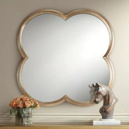 """Noble Park Palazzo Gold 34 3/4"""" x 34 3/4"""" Clover Framed Wall Mirror 
