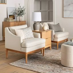 Howell Upholstered Accent Chair with Wood Base - Threshold™ designed with Studio McGee | Target