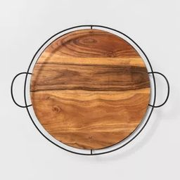Wood and Metal Tray - Hearth & Hand™ with Magnolia | Target