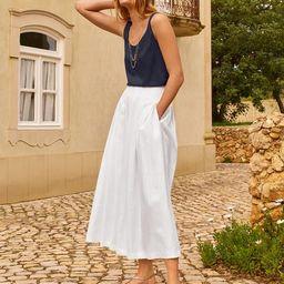 Lydia Linen Pleated Skirt   Boden (UK)