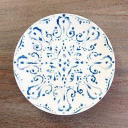 New!Blue Tuscan Scroll Salad Plates, Set of 4   Kirkland's Home