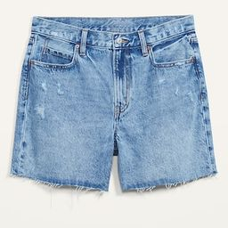 High-Waisted Slouchy Cut-Off Jean Shorts for Women -- 5-inch inseam   Old Navy (US)