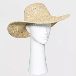 Women's Open Weave Straw Floppy Hat - A New Day™   Target
