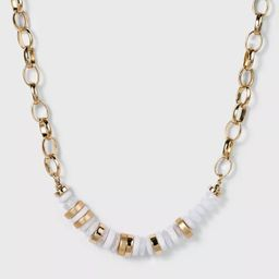 Beaded Statement Necklace - A New Day™ Ivory   Target