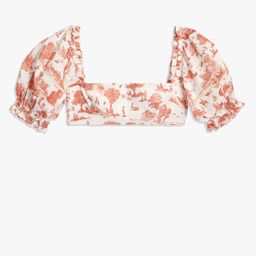 Coco Top - Vintage Toile Terracotta S | We Wore What