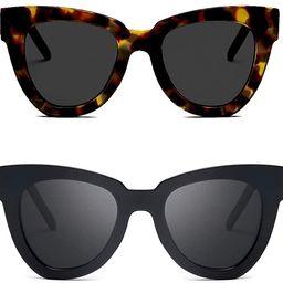 Dollger Retro Cat Eye Sunglasses Women Men Vintage Square Tortoise Shell Fashion Cateye Sunglasse... | Amazon (US)