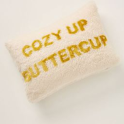 Cozy Up Buttercup Pillow   Anthropologie (US)
