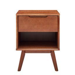 Hillenbrand 1 - Drawer Nightstand in Walnut   Wayfair Professional