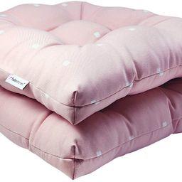 Fabritones Outdoor Chair Cushions 2 Packs 16x17 Inch Decorative Pink Polka Dot Pattern Patio Chai... | Amazon (US)