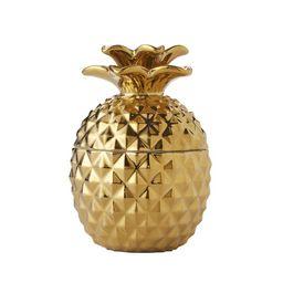 SKL Home Gilded Pineapple Cotton Jar, Gold | Walmart (US)
