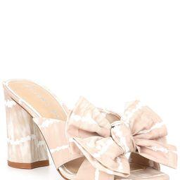 Keily Tie-Dye Bow Detail Block Heel Mules | Dillards