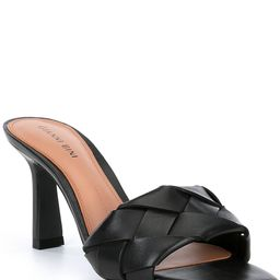 Alonia Square Toe Woven Leather Mules | Dillards