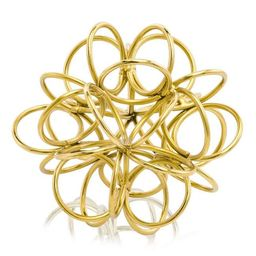 HomeRoots 354804 3.5 x 4 x 4 in. Gold Anillos Rings Object Accent | Walmart (US)