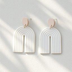 Textured U Drop Earrings   SHEIN