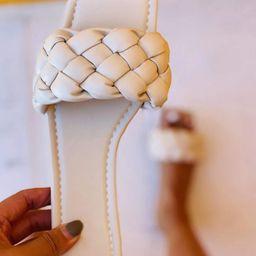 Minimalist Braided Design Slide Sandals   SHEIN