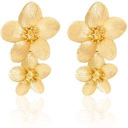 Large Flower Earrings for Women - Metal Flower Earrings, Chic Flower Statement Earrings, Great fo... | Amazon (US)