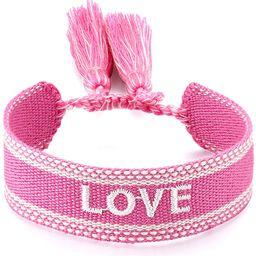 ASTOFLI Woven Friendship Wrap Bracelet Knitted Word Lucky Bracelets Braided Geometric Pattern for... | Amazon (US)