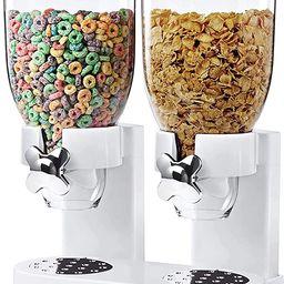 Zevro /GAT201C Indispensable Dry Food Dispenser, Dual Control, White/Chrome   Amazon (US)