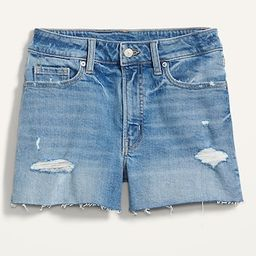 High-Waisted O.G. Straight Ripped Cut-Off Jean Shorts for Women -- 3-inch inseam | Old Navy (US)