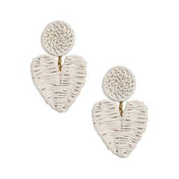 Hyacinth Rattan Heart Earrings   Neely Phelan