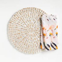 Whitewash Water Hyacinth Round Placemat + Reviews   Crate and Barrel   Crate & Barrel
