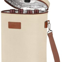 Tirrinia 4 Bottle Wine Carrier - Leakproof & Insulated Padded Portable Versatile Canvas Carrying ...   Amazon (US)