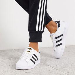 adidas Originals Superstar sneakers in black and white | ASOS (Global)