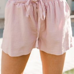 Everyday Happiness Blush Pink Linen Shorts   The Mint Julep Boutique