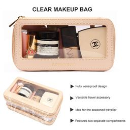 ROWNYEON Travel Makeup Bag Organizer Clear Cosmetic Bag Multipurpose Travel Makeup Train Case Por...   Amazon (US)