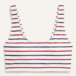 Americana Scoop-Neck Long-Line Swim Top for Women | Old Navy (US)